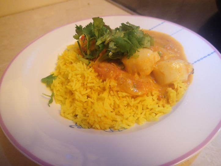 Scallop & prawn curry