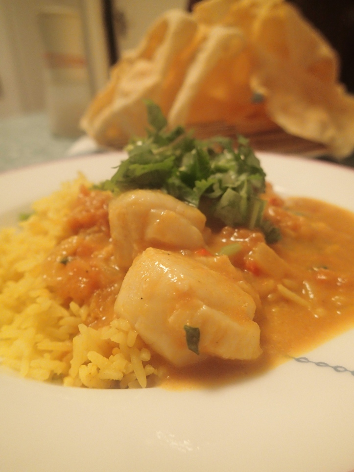Scallop & prawn curry